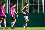 Solna 2014-08-16 Fotboll Damallsvenskan AIK - Kopparbergs/G&ouml;teborg FC :  <br /> AIK:s Madeleine Tegstr&ouml;m deppar efter slutsignalen och f&ouml;rlusten mot Kopparbergs/G&ouml;teborgs <br /> (Foto: Kenta J&ouml;nsson) Nyckelord:  AIK Gnaget Kopparbergs G&ouml;teborg Kopparbergs/G&ouml;teborg depp besviken besvikelse sorg ledsen deppig nedst&auml;md uppgiven sad disappointment disappointed dejected