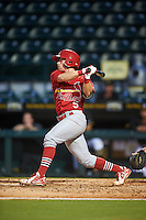 Palm Beach Cardinals third baseman Andrew Sohn (5) at bat during a game against the Bradenton Marauders on August 8, 2016 at McKechnie Field in Bradenton, Florida.  Bradenton defeated Palm Beach 5-4 in 11 innings.  (Mike Janes/Four Seam Images)