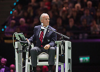 Februari 15, 2015, Netherlands, Rotterdam, Ahoy, ABN AMRO World Tennis Tournament, Final : chair umpire Gerry Armstrong<br /> Photo: Tennisimages/Henk Koster