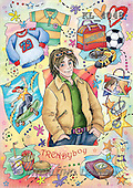 Interlitho, Dani, TEENAGERS, paintings, trendy boy(KL4048,#J#) Jugendliche, jóvenes, illustrations, pinturas ,everyday