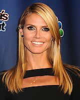 NEW YORK CITY, NY, USA - SEPTEMBER 10: Model Heidi Klum arrives at the 'America's Got Talent' Season 9 Post Show Red Carpet held at the Radio City Music Hall on September 10, 2014 in New York City, New York, United States. (Photo by Celebrity Monitor)