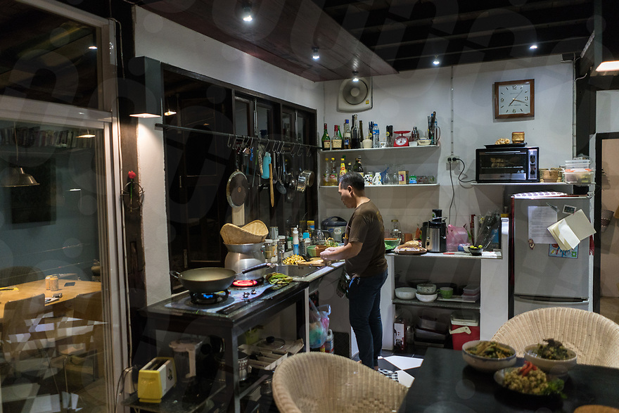 May 12, 2017 - Luang Prabang (Laos). Chef Somsack cooks in his kitchen. © Thomas Cristofoletti / Ruom