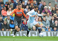 Blackburn Rovers' Bradley Dack under pressure from Swansea City's Matt Grimes<br /> <br /> Photographer Kevin Barnes/CameraSport<br /> <br /> The EFL Sky Bet Championship - Blackburn Rovers v Swansea City - Sunday 5th May 2019 - Ewood Park - Blackburn<br /> <br /> World Copyright © 2019 CameraSport. All rights reserved. 43 Linden Ave. Countesthorpe. Leicester. England. LE8 5PG - Tel: +44 (0) 116 277 4147 - admin@camerasport.com - www.camerasport.com