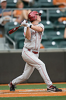 Pinchhitter Chris Ellison #1 of the Oklahoma Sooners YYY against the Texas Longhorns in NCAA Big XII baseball on May 1, 2011 at Disch Falk Field in Austin, Texas. (Photo by Andrew Woolley / Four Seam Images)