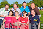 TAG:Palying Tag Rugby at Tralee Rugby Club on Wednesday evening were the Tag Chasers: Front l-r: Christina Fealy, Christina O'halloran, Collette Price and Sean O'Reidy. Back l-r: Francis Hartnett, Sean O'Callaghan, John Hudson and Brendan Heir.................................... ....