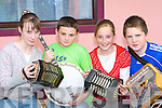 Orlaith Walsh, Darragh Horan, Lisa Shine and Daithi O'Healaithe Templeglantine playing tunes at the Con Curtin festival in Brosna on Sunday   Copyright Kerry's Eye 2008