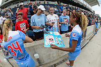 Bridgeview, IL - Saturday June 17, 2017: Fans, Casey Short during a regular season National Women's Soccer League (NWSL) match between the Chicago Red Stars and the Washington Spirit at Toyota Park. The match ended in a 1-1 tie.