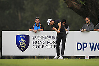Joakim Lagergren (SWE) on the 18th tee during Round 3 of the UBS Hong Kong Open, at Hong Kong golf club, Fanling, Hong Kong. 25/11/2017<br /> Picture: Golffile | Thos Caffrey<br /> <br /> <br /> All photo usage must carry mandatory copyright credit     (© Golffile | Thos Caffrey)