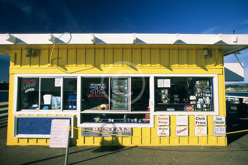 California, Santa Cruz, Santa Cruz Wharf, Snack Bar