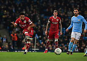 9th January 2018, Etihad Stadium, Manchester, England; Carabao Cup football, semi-final, 1st leg, Manchester City versus Bristol City; Korey Smith of Bristol City passes the ball forward through midfield