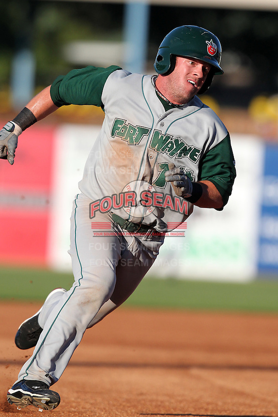 Fort Wayne TinCaps Danny Payne during a game vs. the West Michigan Whitecaps at Fifth Third Field in Comstock Park, Michigan August 18, 2010.   Fort Wayne defeated West Michigan 5-1.  Photo By Mike Janes/Four Seam Images