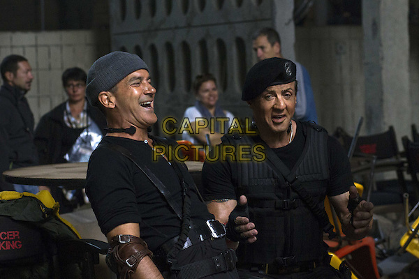 Antonio Banderas, Sylvester Stallone<br /> in The Expendables 3 (2014) <br /> *Filmstill - Editorial Use Only*<br /> CAP/NFS<br /> Image supplied by Capital Pictures