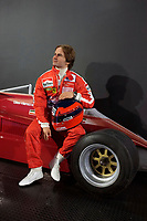 October 24, 2013 -  Opening  of  the  Grevin Montreal Museum - Gilles Villeneuve and his Ferrari.<br /> <br /> Gilles Villeneuve (January 18, 1950  May 8, 1982), was a Canadian racing driver. He was taken on by reigning world champions Ferrari for the end of the season and from 1978 to his death in 1982 drove for the Italian team. He won six Grand Prix races in a short career at the highest level
