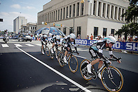 Team Etixx-Quickstep (BEL) speeding towards the finish<br /> <br /> Elite Men&rsquo;s Team Time Trial<br /> UCI Road World Championships Richmond 2015 / USA