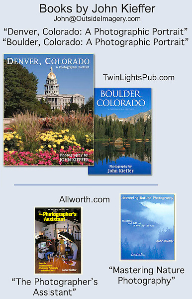 Four books by John Kieffer.<br />