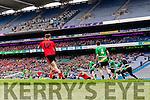Daniel Griffin Glenbeigh Glencar in action against Niall Mullan Rock Saint Patricks in the Junior Football All Ireland Final in Croke Park on Sunday.