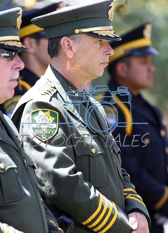 Carson City Sheriff Kenny Furlong participates in the Nevada Law Enforcement Officers Memorial ceremony Thursday morning, May 5, 2011, on the Capitol grounds in Carson City, Nev..Photo by Cathleen Allison