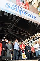 ATENCAO EDITOR IMAGEM EMBARGADA PARA VEICULOS INTERNACIONAIS - SAO PAULO, 02 DE FEVEREIRO DE 2013. - ANO NOVO CHINES SP  - O prefeito Fernando Haddad durante visita as comemoracoes da chegada do ano novo chines, no bairro da Liberdade, na manha deste sabado, 02, regiao central da capital.  (FOTO: ALEXANDRE MOREIRA / BRAZIL PHOTO PRESS).