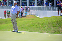 Bill Haas (USA) barely misses his putt on 15 during round 6 of the World Golf Championships, Dell Technologies Match Play, Austin Country Club, Austin, Texas, USA. 3/26/2017.<br /> Picture: Golffile | Ken Murray<br /> <br /> <br /> All photo usage must carry mandatory copyright credit (&copy; Golffile | Ken Murray)
