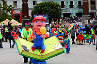 PASTO- COLOMBIA, 02-01-2019: Unos 1.700 niños desfilaron en el llamado Carnavalito. Carrocitas, comparsitas, murguitas, colectivos coreográficos fueron el deleite de miles de asistentes en el primer día del Carnaval de Negros y Blancos de Pasto. Temas como el de la película Coco, trajes de fantasía, representaciones del medio ambiente, ñapangas, danzas tradicionales hicieron su presentación. / Some 1.700 children paraded in the so-called Carnavalito. Carrocitas, comparsitas, murguitas, choreographic collectives were the delight of thousands of attendees on the first day of the Carnival of Negros and Blancos de Pasto. Themes such as the movie Coco, fantasy costumes, representations of the environment, ñapangas, traditional dances made their presentation. / Photo: Vizzorimage / Leonardo Castro  / Cont.