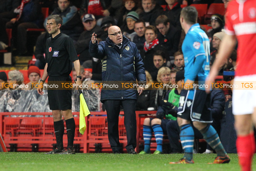 Leeds United Manager Brian McDermott - Charlton Athletic vs Leeds United - Sky Bet Championship Football at The Valley, London - 09/11/13 - MANDATORY CREDIT: Simon Roe/TGSPHOTO - Self billing applies where appropriate - 0845 094 6026 - contact@tgsphoto.co.uk - NO UNPAID USE