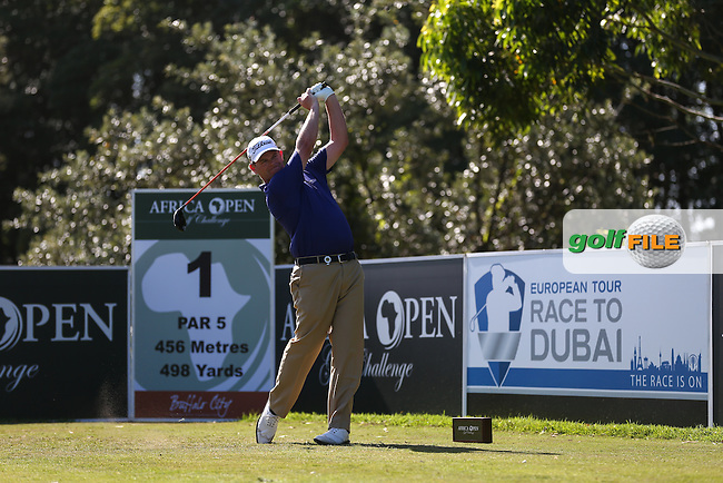 David Drysdale (SCO) powers the ball down the first during Round Two of the Africa Open 2015 at the East London Golf Club, East London, Eastern Cape, South Africa. Picture:  David Lloyd / www.golffile.ie. 06/03/2015