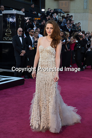 KRISTEN STEWART..Red Carpet Arrivals at the OSCARS - 85th Annual Academy Awards, Dolby Theatre, Hollywood_24/02/2013.MANDATORY PHOTO CREDIT: ©Ampas/NEWSPIX INTERNATIONAL . .(Failure to by-line the photograph will result in an additional 100% reproduction fee surcharge. You must agree not to alter the images or change their original content)..            *** ALL FEES PAYABLE TO: NEWSPIX INTERNATIONAL ***..IMMEDIATE CONFIRMATION OF USAGE REQUIRED:Tel:+441279 324672..Newspix International, 31 Chinnery Hill, Bishop's Stortford, ENGLAND CM23 3PS.Tel: +441279 324672.Fax: +441279 656877.Mobile: +447775681153.e-mail: info@newspixinternational.co.uk