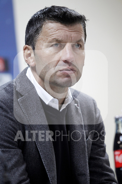 Real Valladolid's coach Miroslav Djukic in press conference after La Liga match.November 18,2012. (ALTERPHOTOS/Acero)