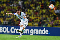 BUCARAMANGA – COLOMBIA, 03-02-2020: Alexis Mac Allister de Argentina en acción durante partido entre Argentina U-23 y Uruguay U-23 por el cuadrangular final como parte del torneo CONMEBOL Preolímpico Colombia 2020 jugado en el estadio Alfonso Lopez en Bucaramanga, Colombia. / Alexis Mac Allister of Argentina in action during the match between Argentina U-23 and Uruguay U-23 for for the final quadrangular as part of CONMEBOL Pre-Olympic Tournament Colombia 2020 played at Alfonso Lopez stadium in Bucaramanga, Colombia. Photo: VizzorImage / Julian Medina / Cont