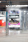 Lothian Bus take part in Open Doors Day.<br /> <br /> Pictured: Bus with visitors going through the washer<br /> <br /> Image by: Malcolm McCurrach