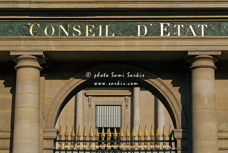 The Conseil d'Etat, a government building in Paris, France.