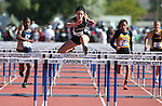 Spring Creek's Kellie Kinsman wins the 100-meter 1-A hurdles at the NIAA track and field finals at Carson High School in Carson City, Nev., on Saturday, May 21, 2016. Cathleen Allison/Las Vegas Review-Journal