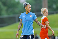 Piscataway, NJ - Saturday July 09, 2016: Tasha Kai during a regular season National Women's Soccer League (NWSL) match between Sky Blue FC and the Houston Dash at Yurcak Field.