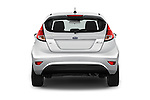 Straight rear view of 2017 Ford Fiesta SE 5 Door Hatchback Rear View  stock images