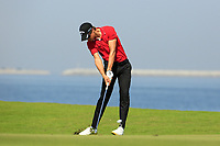 Thomas Detry (BEL) during the final round of the NBO Open played at Al Mouj Golf, Muscat, Sultanate of Oman. <br /> 18/02/2018.<br /> Picture: Golffile | Phil Inglis<br /> <br /> <br /> All photo usage must carry mandatory copyright credit (&copy; Golffile | Phil Inglis)