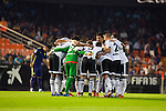 Valencia's players  during La Liga match. October 17, 2015. (ALTERPHOTOS/Javier Comos)