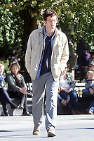 NEW YORK, NY - OCTOBER 10: Callum Turner on the set of the new film, The Only Living Boy on October 10, 2016 in New York City. Credit: RW/MediaPunch