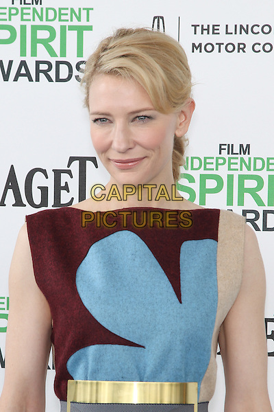 SANTA MONICA, CA - MARCH 1: Cate Blanchett attending the 2014 Film Independent Spirit Awards in Santa Monica, California on March 1st, 2014. Photo Credit: RTNUPA/MediaPunch<br /> CAP/MPI/RTNUPA<br /> &copy;RTNUPA/MediaPunch/Capital Pictures