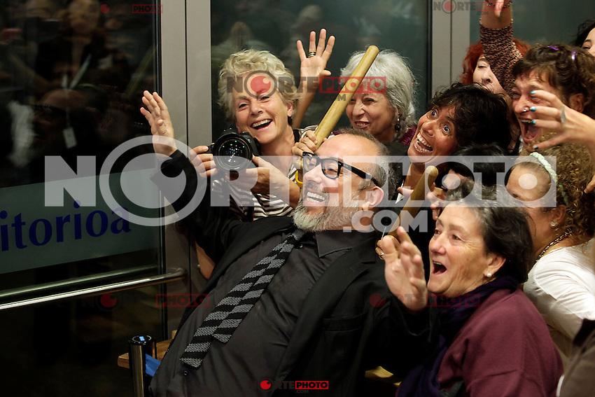 "Director Alex de la Iglesia posses in the photocall of the ""Las brujas de Zugarramurdi"" film premiere during the 61 San Sebastian Film Festival, in San Sebastian, Spain. September 22, 2013. (ALTERPHOTOS/Victor Blanco) /NortePhoto"