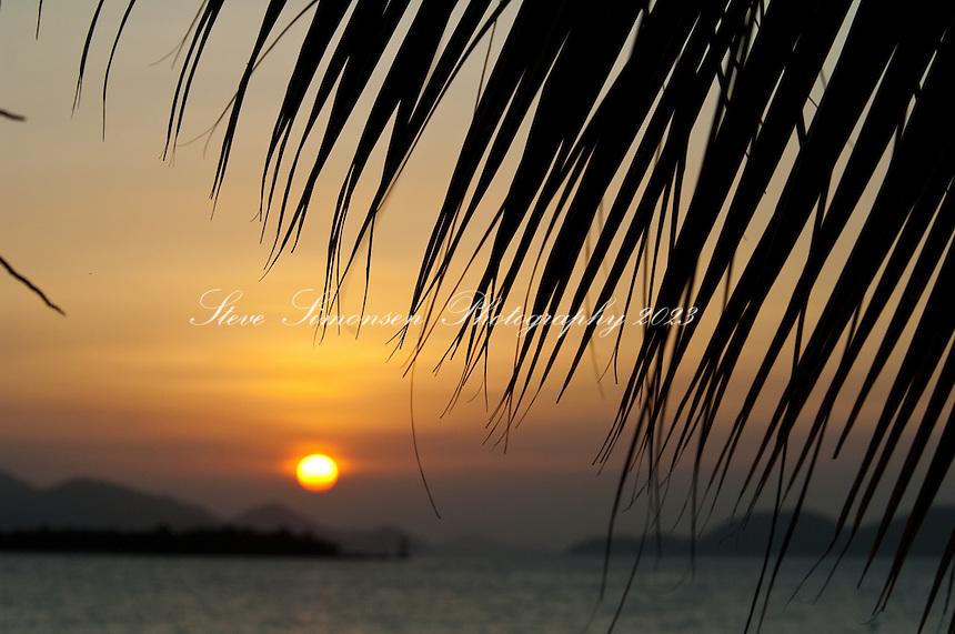 Sunset over St Thomas from Frank Bay<br /> St John, US Virgin Islands