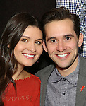 "Phillipa Soo and Adam Chanler-Beret attend the ""Amelie"" Broadway Musical Sneak Peek Concert at the Cutting Room on February 10, 2017 in New York City."