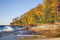 64745-00103 Miners Beach in fall at sunset Pictured Rocks National Lakeshore near Munising MI