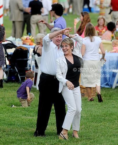 United States Senator Max Baucus (Democrat of Montana) dances during the Congressional Picnic on the South lawn of the White House, June 15, 2011, in Washington D.C..Credit: Olivier Douliery / Pool via CNP