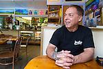Owner Al Franco at Grandma's Coffee House in Keokea, Upcountry, Maui, Hawaii