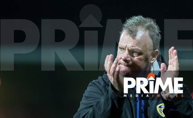 Leeds United Manager Steve Evans during the Sky Bet Championship match between Brentford and Leeds United at Griffin Park, London, England on 26 January 2016. Photo by Andy Rowland / PRiME Media Images.