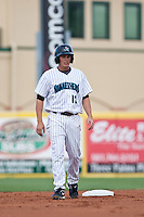 May 1 2010: Daniel Pertusati (12) of the Jupiter Hammerheads  during a game vs. the Palm Beach Cardinals at Roger Dean Stadium in Jupiter, Florida. Palm Beach, the Florida State League High-A affiliate of the St. Louis Cardnials, won the game against Jupiter, affiliate of the Florida Marlins, by the score of 5-4  Photo By Scott Jontes/Four Seam Images