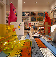 London Art Collector's Eclectic Home