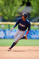 Toledo Mudhens Dixon Machado (6) running the bases during a game against the Buffalo Bisons on May 18, 2016 at Coca-Cola Field in Buffalo, New York.  Buffalo defeated Toledo 7-5.  (Mike Janes/Four Seam Images)