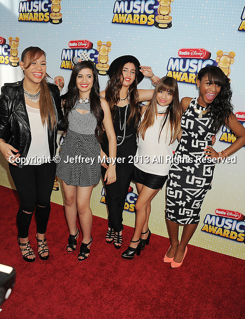 LOS ANGELES, CA- APRIL 27: Singers Fifth Harmony arrive at the 2013 Radio Disney Music Awards at Nokia Theatre L.A. Live on April 27, 2013 in Los Angeles, California.