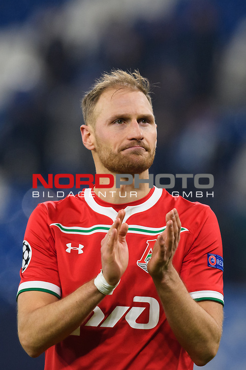 11.12.2018, VELTINS Arena, Gelsenkirchen, Deutschland, GER, UEFA Champions League, Gruppenphase, Gruppe D, FC Schalke 04 vs. FC Lokomotiv Moskva / Moskau<br /> <br /> DFL REGULATIONS PROHIBIT ANY USE OF PHOTOGRAPHS AS IMAGE SEQUENCES AND/OR QUASI-VIDEO.<br /> <br /> im Bild Abschied Benedikt Höwedes / Hoewedes (#5 Moskau)<br /> <br /> Foto © nordphoto / Kurth